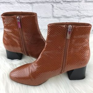 Topshop Shoes - Top shop Patent Booties ♥️Excellent Condition